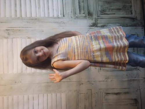 Photo of Туника для девочки, хлопок, меланж, летняя туника для девочки