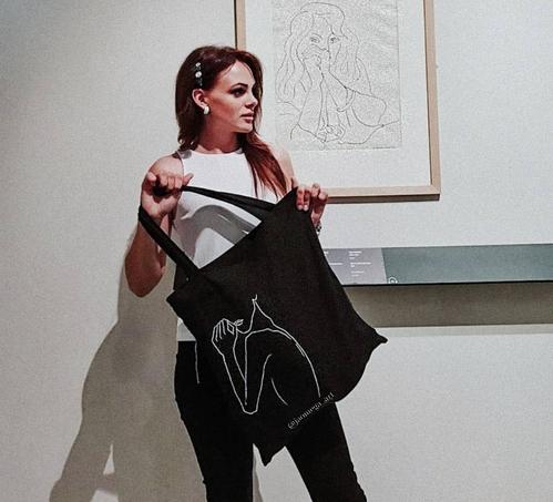 Photo of Шоппер с абстрактным принтом